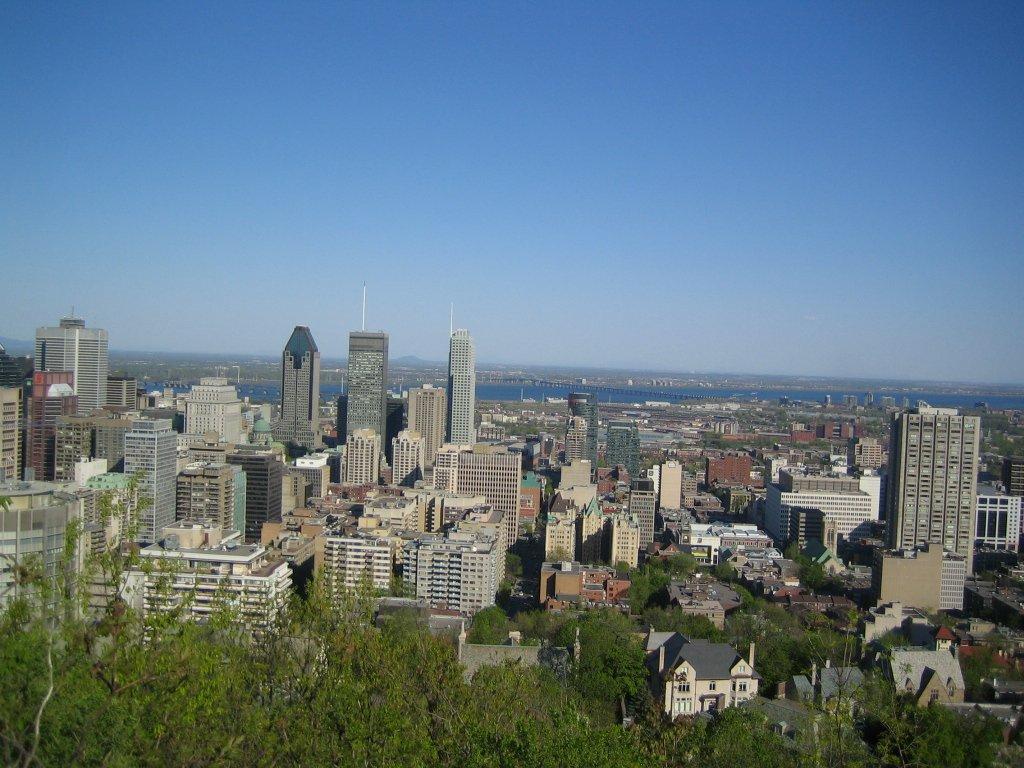 Montréal vue du Mont Royal.